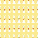 Background with repeating bunny and carrot heart Stock Photography