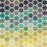 Background of repeating geometric stars. Spectrum geometric back Royalty Free Stock Image