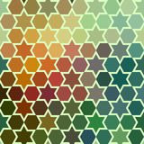 Background of repeating geometric stars. Spectrum geometric background. Retro hipster color spectrum background. Square compositio Royalty Free Stock Photos