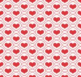 Background with repeating hearts Royalty Free Stock Image