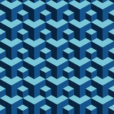 Background of repeating three-dimensional blocks. Stock Photography