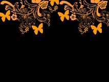 Background repetition cards backgrounds butterflies. Background repetition cards backgrounds isolated repeat decoration pattern texture orange butterflies stock illustration
