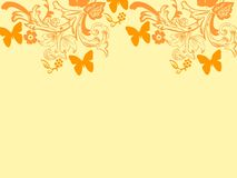Background repetition flowers cards backgrounds orange butterflies. Background repetition cards backgrounds isolated repeat decoration pattern texture orange royalty free illustration