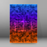 Background report brochure Cover Pages A4 style abstract glow46 Stock Photography