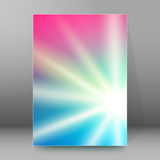 Background report brochure Cover Pages A4 style abstract glow88. Abstract background advertising brochure design elements. Blurry light glowing graphic form for Stock Image