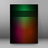 Background report brochure Cover Pages A4 style abstract glow63. Abstract background advertising brochure design elements. Futuristic style glow neon disco club Stock Images