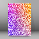 Background report brochure Cover Pages A4 style abstract glow17. Abstract background advertising brochure design elements. Glowing light mosaic graphic form for Royalty Free Stock Images