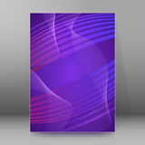 Background report brochure Cover Pages A4 style abstract glow07. Abstract background advertising brochure design elements. Glowing light wave lines graphic form Royalty Free Stock Image