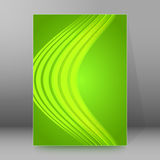 Background report brochure Cover Pages A4 style abstract glow02. Abstract background advertising brochure design elements. Glowing light wave lines graphic form Stock Images