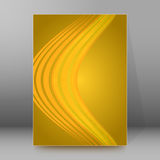 Background report brochure Cover Pages A4 style abstract glow. Abstract background advertising brochure design elements. Glowing light wave lines graphic form Stock Photos