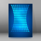 Background report brochure Cover Pages A4 style abstract glow24 Royalty Free Stock Image