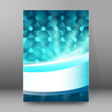 Background report brochure Cover Pages A4 style abstract glow53 Stock Image