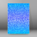 Background report brochure Cover Pages A4 style abstract glow42. Abstract blue background advertising brochure design elements. Glowing light mosaic graphic form Royalty Free Stock Images