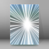 Background report brochure Cover Pages A4 style abstract glow94. Gray background advertising brochure design elements. Glowing light stripe oblique graphic form Stock Image