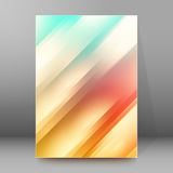 Background report brochure Cover Pages A4 style abstract glow. Modern design spring abstract background of bright glowing blur oblique rays. Graphic Vector vector illustration