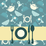Background of restaurant menu-illustration Royalty Free Stock Photography