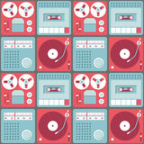 Background with retro audio equipment Royalty Free Stock Photo