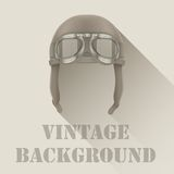 Background of Retro aviator pilot or biker helmet Stock Images
