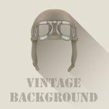 Background of Retro aviator pilot or biker helmet Stock Images