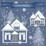 Background retro christmas design nature winter illustration Stock Images