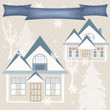 Background retro christmas design nature winter picture illustra Stock Photography