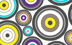 Background from retro circles. Background in retro style of color and black and white circles and rings Stock Image