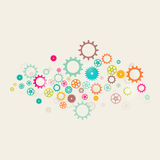 Background of retro color cogwheel Stock Images