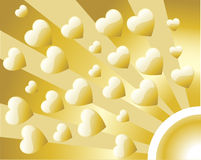 Background Retro Golden Heart Royalty Free Stock Images