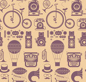 Background with retro lifestyle objects. Royalty Free Stock Photography