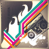 Background with retro objects. Royalty Free Stock Photos