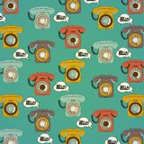 Background with retro phone Royalty Free Stock Photos