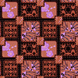 Background retro scandinavian pattern patchwork quilt design Royalty Free Stock Photography