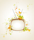 Background with retro tv Stock Image