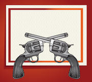 Background with revolvers Royalty Free Stock Photography