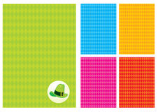Background with rhombus and a green hat Stock Image