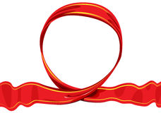 Background with ribbon. Red ribbon. element for design Stock Photo