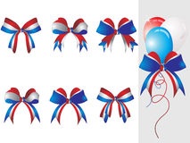 Background with ribbon, balloon Royalty Free Stock Photography