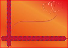 Background with ribbon Stock Image