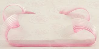 Background, ribbon and roses Stock Photography