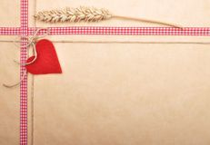 Background with ribbon and twine. Colorful and crisp image of background with ribbon and twine royalty free stock images
