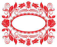 Background with a rich ornamentation of rose Royalty Free Stock Photo