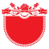 Background with a rich ornamentation of roses Royalty Free Stock Photo