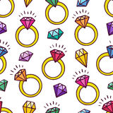 Background of rings and gems Royalty Free Stock Image