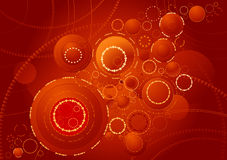 Background of rings,vector. Background of red rings,vector illustration Stock Photography