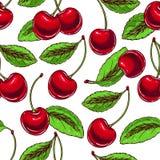 Background with ripe cherries Stock Photo