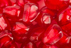 Background of ripe grains pomegranate Stock Photo