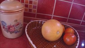 Background of ripe grapefruits and tangerines stock video footage
