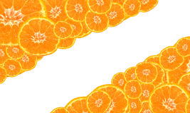 Background of ripe mandarines. Background of ripe mandarin with a white stripe in the middle Royalty Free Stock Image
