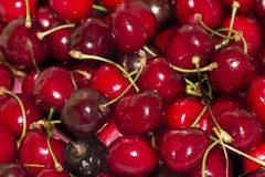 Background of ripe red sweet cherry Stock Images