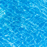 Background of rippled pattern of clean water in a blue. Stock Photography